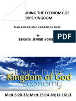 Understanding God's Kingdom Economy-part 1