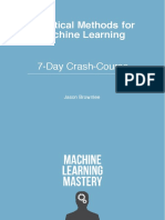 Statistical Methods for Machine Learning Mini Course