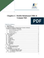 Chapitre-1 Modèle Relationnel & SQL