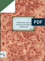 Reglamento Milicias Provinciales 1802