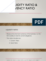 Solvancy and Liquidity Ratio