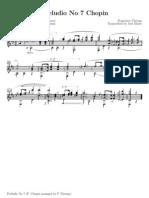 Preludio nº 7 Chopin - Francisco Tarrega