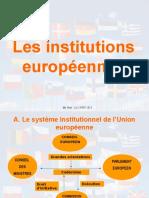 Les Institutions Européennes Le 15.09.2013