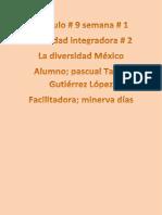Gutierrez Lopez_Pascual Tayde_M9S1_La Diversidad en Mexico