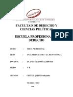 ANALISIS DE CASOS Y LA DEONTOLOGIA