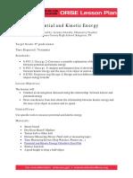 Lesson Plan Kinetic Energy 2