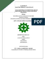 Laporan PKL K3 Kelembagaan, SMK3, K3 Kesehatan Kerja, K3 B3