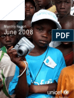 UNICEF CAR Monthly Report June 2008