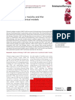 CAR T Cell Therapy, Toxicity and the Relevance of Preclinical Models