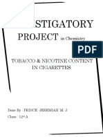 Analysis of Nicotine & Tobacco Content in Cigarettes