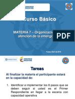 Materia 7 Av - Organizacion en La Atencion de La Emergencia