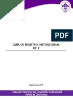 Guia de Registro Institucional 2019 ASV Septiembre 2019