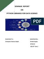 Python Libraries Seminar Report