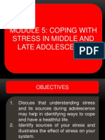 Coping Stress in Middle and Late Adolescence
