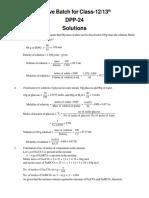 DPP 24 Solutions
