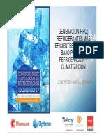 3 Generacion HFO Refrigerantes Mas Eficientes y Con Muy Bajo PCA Para Refrigeracion y Climatizacion CHEMOURS Fenercom-2017