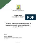 Proiect Organe de Masini