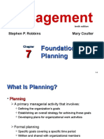 Chapter 7 Foundations of Planning