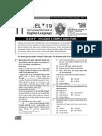 Class 6 Ioel Sample Paper