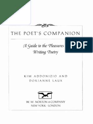 The Poet's Companion   Poetry   Books