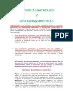 Sustancias Naturales y Sinteticas
