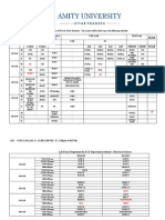 Bed Revised Date Sheet of B. Tech. 1st Semester 2010-11