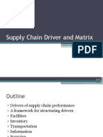 L2 Supply Chain Driver and Matrix