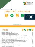 Directorio Afiliadas 2017