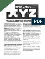 Frank Zane's XYZ
