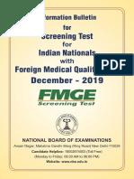 Information Bulletin FMGE Dec 2019