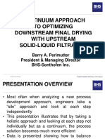 2019 Chem Show and Perlmutter-BHS Solid-Liquid Filtration and Final Drying Optimization