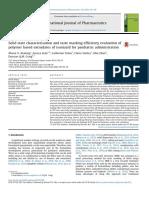Solid State Characterisation and Taste Masking Efficien 2018 International J