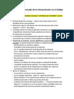Introducción Al Estudio de La Interpretación en El Código Civil Peruano FERNANDEZ
