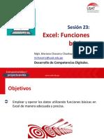 Sesion 23_Funciones Basicas