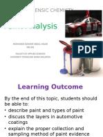 Paint Analysis