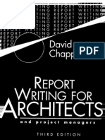Report Writing for Architects and Project Managers 3rd Ed - D. Chappell Black Well, 1996) WW