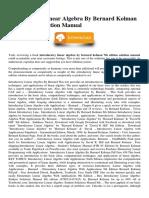 Introductory Linear Algebra by Bernard Kolman 7th Edition Solution Manual