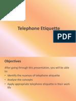 Telephone Etiquette Updated