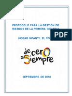 PROTOCOLO PARA LA GESTIÓN DE RIESGOS EN LA PRIMERA INFANCIA HOGAR INFANTIL EL COPEY.docx