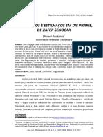 Fragmentos e Estilhaços Em Die Prärie. Revista Anuário Da Literatura. 2014