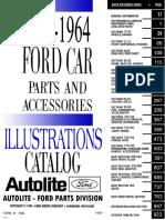 1960-1964 FordCar PartsAndAccessories IllustrationsCatalog