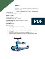 Ficha Tecnica Comercial de jugutes y maquillaje