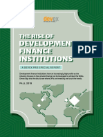 REPORT the Rise of Development Finance Institutions