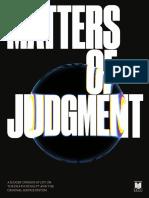 Matter of Judgment