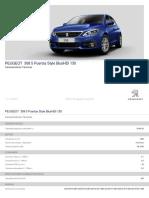 Ficha Técnica 308 5p Style BlueHDi 130 S&S 6 Vel. MAN _6.2 (Solo Stock)