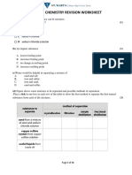 Year9 Chemistry Final Exam Revision Paper