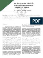 Acceso a Servicios de Salud de Migrantes Indocumentados en Tránsito por México