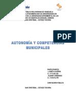 Autonomia y Competencias Municipales
