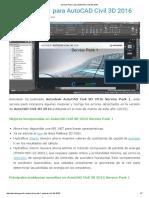 Service Pack 1 Para AutoCAD Civil 3D 2016