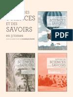 PESTRE Dominique Histoire Sciences Et Savoirs 3tomes